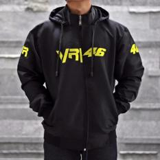 Beli Jaket Sport Valentino Rossi Vr46 Motogp Logo Bordir Best Seller Hitam Lengkap