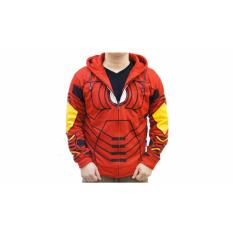 Beli Jaket Super Hero Fleece Iron Man Red Kredit