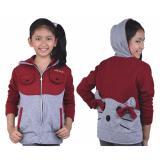 Beli Jaket Sweater Anak Perempuan Catenzo Junior Cdi 124 Abu Kombinasi Jawa Barat