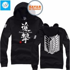 Ongkos Kirim Jaket Sweater Anime Attack On Titan Hoodie Best Seller Black Di Jawa Barat
