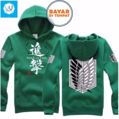 Jual Jaket Sweater Anime Attack On Titan Hoodie Best Seller Green Murah Di Jawa Barat
