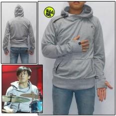 Jaket Sweater Ariel Noah Hoodie Terbaru Greenlight Abu Muda - A3aa67