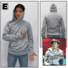 Jaket Sweater Ariel Noah Hoodie Terbaru Greenlight Abu Muda - D539D5