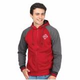 Toko Jaket Sweater Bomber Hodies Pria Flece Merah Termurah