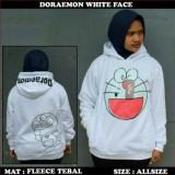 Jaket Sweater Doraemon Smiley White Hoodie Best Seller Jawa Barat Diskon 50
