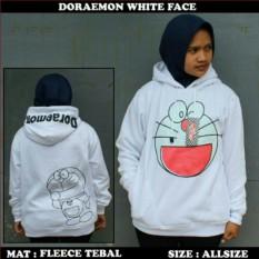 Katalog Jaket Sweater Doraemon Smiley White Hoodie Best Seller Bang Cloth Terbaru