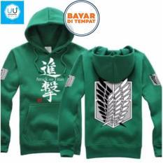 Harga Jaket Sweater Hoodie Anime Attack On Titan Best Seller Green Oem