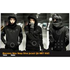 Jaket Sweater Hoodie Anime Naruto Style Jacket New Ninja Anbu Uchiha Rikudou (JA NRT 101, 102, 103, 104) Best Seller - Black