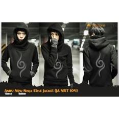 Jaket Sweater Hoodie Anime Naruto style Ninja Anbu Uchiha Rikudou (JA NRT 101,102,103,104)  Best Seller - Black