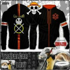 Jaket Sweater Hoodie Anime One Piece Trafalgar Law - Corazon Edition - 93A539