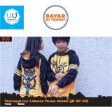Spesifikasi Jaket Sweater Hoodie Anime One Piece Trafalgar Law Style Dressrosa Heart Best Seller Yellow Black Bagus