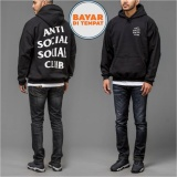 Harga Jaket Sweater Hoodie Anti Social Social Club Unisex Best Seller Black New