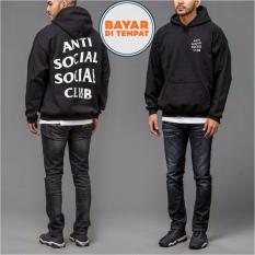 Jual Cepat Jaket Sweater Hoodie Anti Social Social Club Unisex Best Seller Black
