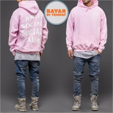 Jaket Sweater Hoodie Anti Social Social Club Unisex Best Seller - Pink