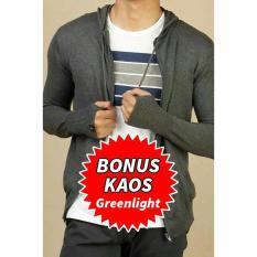Jaket Sweater Hoodie Knit Rajut Ariel Bonus Kaos Greenlight Premium - De3c6c