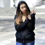 Beli Jaket Sweater Hoodie Roundhand Rajut Wanita Maroon Murah Jawa Barat