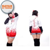 Harga Jaket Sweater Hoodie Zipper Konoha Yondaime Anime Naruto Ja Nrt 79 Best Seller White Red Satu Set