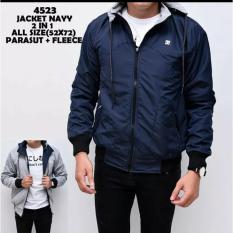 Diskon Jaket Sweater Parasut 2 In 1 Navy Dmxstore Dki Jakarta