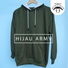 Jaket Sweater Polos Hoodie Jumper Hijau Army - Premium Quality