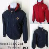 Katalog Jaket Pria Dc Bolak Balik Luar Dan Dalam Hitam Dalam Merah Terbaru