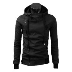 jaket sweater pria haragiri hitam bahan fleece