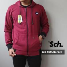 Jaket Sweater Pria Kualitas Premium RSCH FULL MAROON
