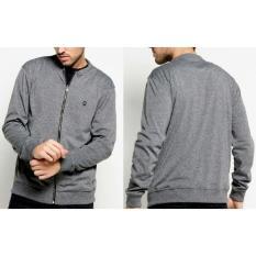 Jaket Sweater Ziper Bomber Pria Katun Bandung Greenlight Big Size L Xl - Aec9b7