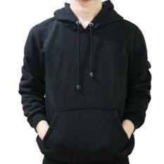 Jaket Sweter Hoodie Premium Unisex-Pria & Wanita-Model Polos-Hitam-Harga Murah Berkualitas