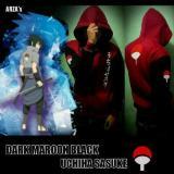 Harga Termurah Jaket Uchiha Sasuke Dark Maroon Black