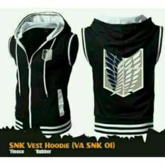 Promo Jaket Vest Hoodie Attack On Titan Black Best Seller Akhir Tahun