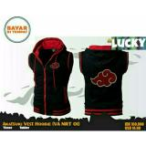 Review Jaket Vest Rompi Anime Naruto Akatsuki Black Red