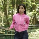 Model Jaket Wanita Bomber Brunny Pink Terbaru