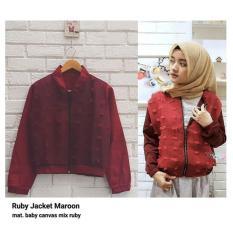Toko Jaket Wanita F Jaket Bomber Ruby Jacket Terlengkap Di Indonesia