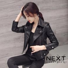 Jaket Wanita Korea Casual   Jaket Kulit Wanita PU Leather 3c74b888a1