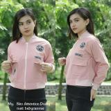 Situs Review Jaket Wanita Neo Attention Bomber Dusty Pink