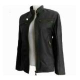 Beli Jaket Wanita Semi Kulit Premium Cwsk02D Hitam Murah Jawa Barat