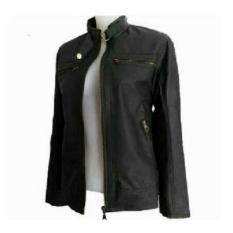 Jual Jaket Wanita Semi Kulit Premium Cwsk02D Hitam Lengkap