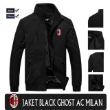 Harga Jaket Waterproof Ghost Black Ac Milan New