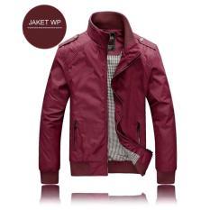Beli Jaket Waterproof Merah Marun Polos Jacket Wp Anti Air Promo Butik Soccer Id