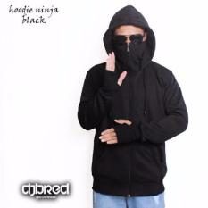 Beli Jaket Zipper Hoodie Ninja Hitam Djavu Asli