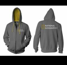 Jaket Zipper Hoodie Sweater NATIONAL GEOGRAPHIC KOMBINASI