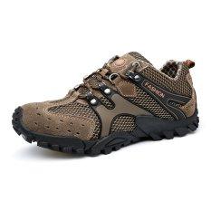 Model Sepatu Pria Tahan Lama Climbed Mt. Sepatu Trekking Climbing Super Bernapas Coklat
