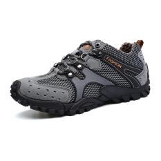 Toko Jalur Sepatu Gunung Climbing Sepatu Olahraga Outdoor Sepatu New Fashion Tahan Lama Mens Hiking Sepatu Mountain Climbing Sepatu Super Bernapas Trekking Sepatu Abu Abu Termurah Di Tiongkok