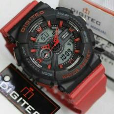 Jam Tangan Pria Digitec Doubletime Black Red Original Water Resist - 76E53D