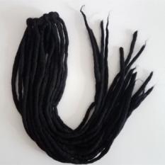 ! Jamaika Reggae Gimbal Nepal Handmade Wol Felt Hair Gelang Tousheng Rambut Dikepang Mengirim Tutorial (Hitam)-Intl