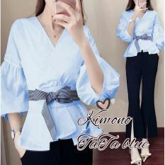 J&C Atasan Kimono Rena Salur / Baju Kimono / Kemeja Kimono / Atasan Kimono / Kemeja Kasual / Baju Kantoran / Kemeja Kantoran