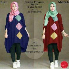 J&C Atasan Muslim Blouse Jumbo Pinguin Wajik / Atasan Muslim / Baju Big Size / Blouse Jumbo / Kaos Jumbo