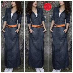 J&C Dress Jeans Maxi / Casual Dress / Dress Jeans / Jeans Dress / Dress Panjang / Gaun Panjang / Maxi Dress / Baju Import / Dress Maxi / Dress Korea / Gaun Model Korea