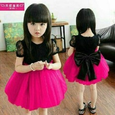 J&C Dress Ribbon / Baju Brukat Anak / Dress Brukat Anak / Mini Dress Anak / Gaun Pesta Anak / Dress Anak / Midi Dress Anak / Baju Ulang Tahun Anak