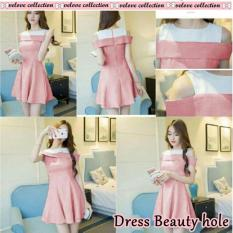 Harga J C Dress Wanita Dress Beauty Hole Dress Hole Dress Bahu Terbuka Dress Korea Mini Dress Asli J C